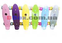 """Скейт Пенни борд Penny board Кроха 17"""" Светящиеся тихие колеса"""