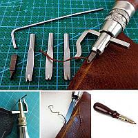 Инструмент для кожи 5 в 1: кромкорез, разметчик шва