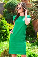 Льняное повседневное платье