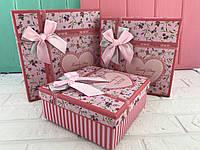 "Подарочная коробка ""Darling"" розовая"