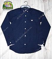 Рубашка детская темно-синяя ARMANI
