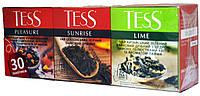 Чай Тесс Асорті№1(Плеже+Санрайз+Лайм) пакет 1,8г*30