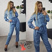 Комбинезон женский джинсовый свободного кроя 2 цвета Df532