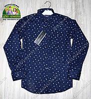 Рубашка Tommy Hilfiger с длинным рукавом темно-синяя