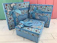 "Подарочная коробка ""Darling"" синяя"