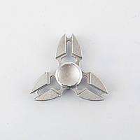 Спиннер металлический серебристый 3-и лопасти