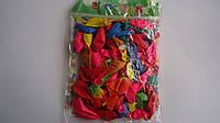 """Воздушные шарики круглые разноцветные """"Baloons"""" ассорти, 100 шт.стандарт.Воздушные шарики латексные. Шар латек"""