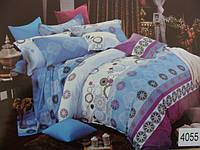 Сатиновое постельное белье евро ELWAY 4055