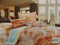 Сатиновое постельное белье евро ELWAY 4058