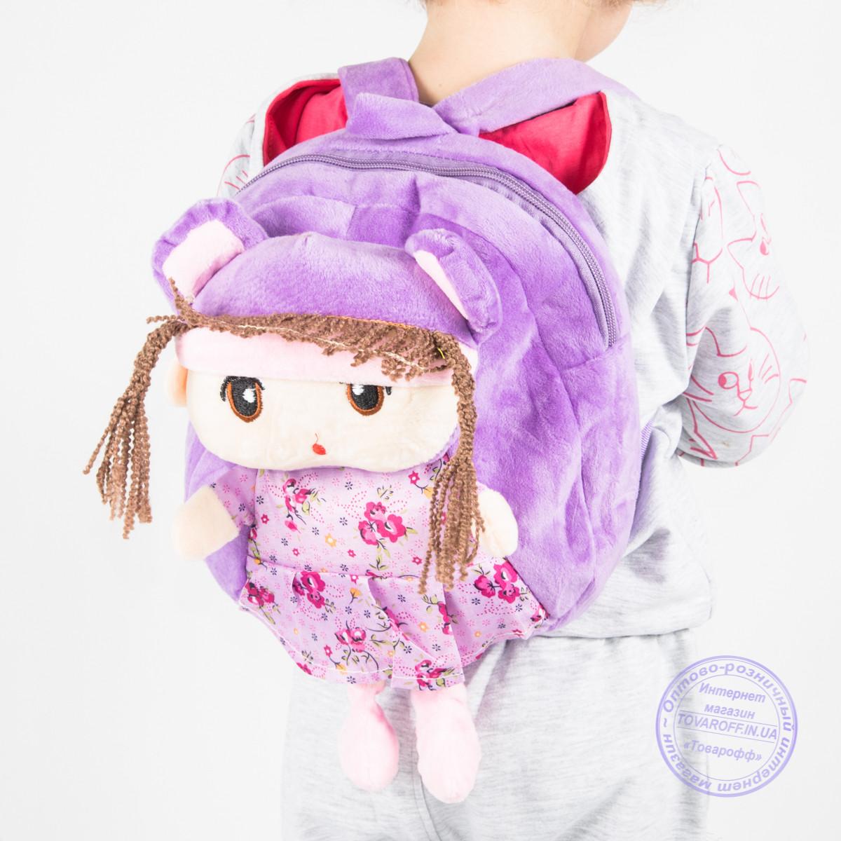 Детский рюкзак для девочек - сиреневый - J109