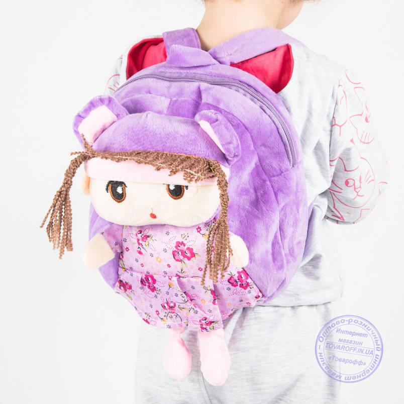 Детский рюкзак для девочек - сиреневый - J109, фото 2