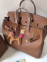 Роскошная женская сумка Гермес Биркин 35 см (реплика), фото 1