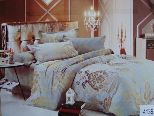 Сатиновое постельное белье евро ELWAY 4139