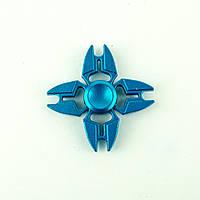 Спиннер металлический синий 4-и лопасти
