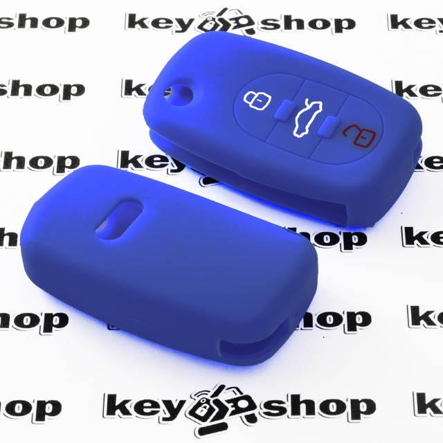 Чехол (силиконовый) для авто ключа Audi (Ауди) 3 кнопки, фото 2