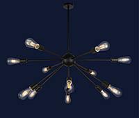Светильник подвесной LOFT L529359-12 BK