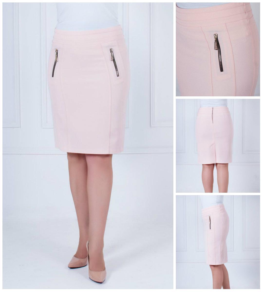 Летняя стильная юбка из костюмной ткани. 44-52