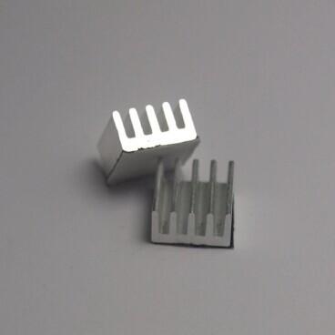 Мини Радиатор 11х11х5 мм.  ребристый , фото 1