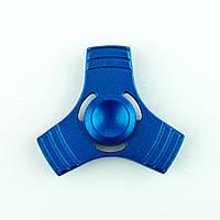 Спиннер металлический синий 3-и лопасти