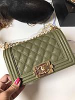 Модная женская сумка Chanel Boy Chavron Flap 20 см