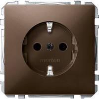 Механизм розетки c з/к Merten SD Коричневый MTN2300-4015