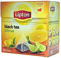 """Чай черный Lipton """"Цитрус"""" 20пір"""