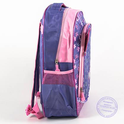Школьный рюкзак для девочек с бабочкой - сиреневый - 151, фото 3