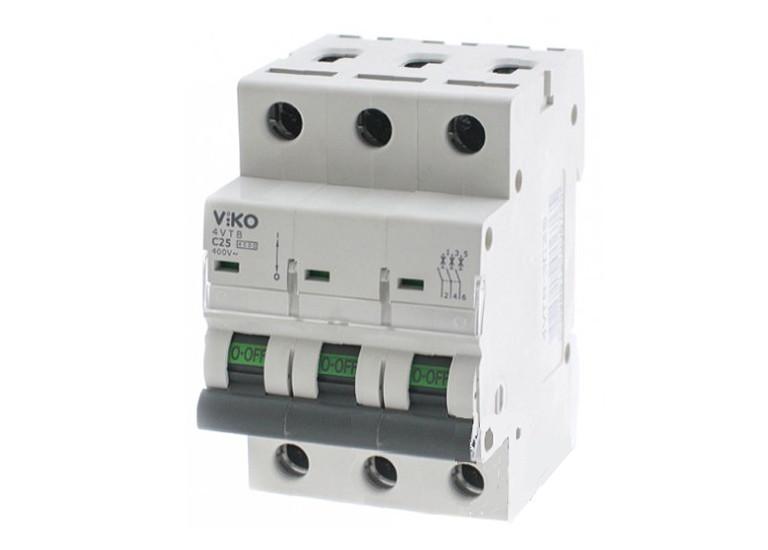 Трёхполюсный автоматический выключатель VIKO, 25А