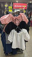 Блуза котон с кружевом oversize (белая, черная)
