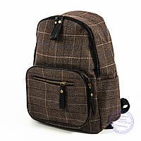 Стильный рюкзак небольшого формата в клеточку - 10010
