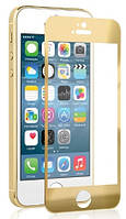 Защитное стекло для iPhone 5 5s 5С SE цветное Full Screen