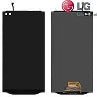 Дисплейный модуль (дисплей + сенсор) для LG V10 H960A/VS990, черный, оригинал