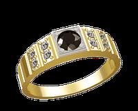 Мужское золотое кольцо Глаз змеи