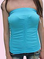 Женская футболка 2623 голубой