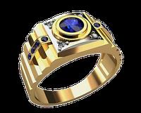 Мужское золотое кольцо Ролекс Круг