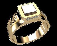 Мужское золотое кольцо Скифское