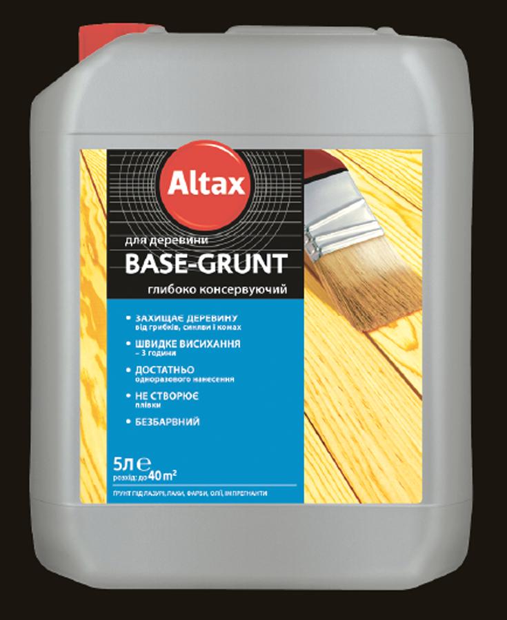BASE-GRUNT 0.75л - для древесины глубоко консервирующее