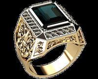 Мужское золотое кольцо Герцог