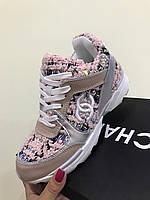 Брендовые кроссовки Chanel розовые 36, 37р