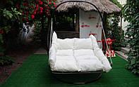 Купить подвесную кровать из ротанга в Украине от производителя