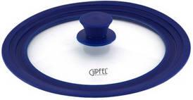 Крышка GIUM стеклянная на 3 размера 28/30/32 см, синяя, арт. 1027