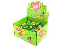 Жевательная резинка Love is  100 шт в ассортименте яблоко-лимон