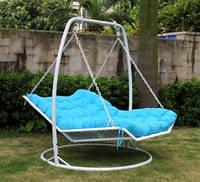 Кровать подвесная из ротанга плетенная садовая качель  кровать