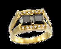 Золотое мужское кольцо с разделением