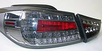 Hyundai Elantra MD оптика задняя черная LED стиль Audi