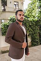Пиджак мужской коричневый на пуговицах ВВ/-М47