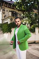 Пиджак мужской зелёный на пуговицах ВВ/-М47