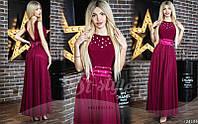 Выпускное шифоновое платье в пол 215