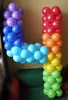 Цифра 4 из шаров латексных.