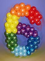 Цифра 6 из шаров латексных.